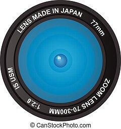 camera lens vector illustration.