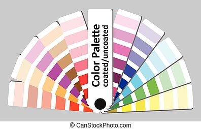 Color palette vector illustration.