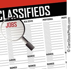 Classifieds search background