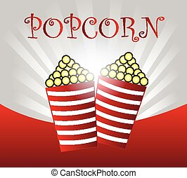 Pop corn background vector illustration