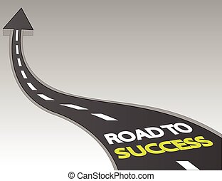 Road to success background vector illustration