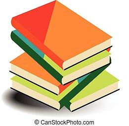 Books Pile vector illustration.