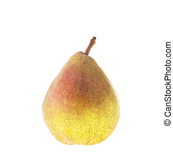 Fresh Fruit: Red Pear Isolated on White background