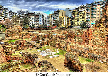 Remains of Galerius Palace in Thessaloniki - Greece