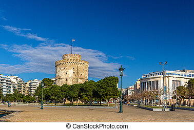 The White Tower and the National Theatre of Northern Greece...