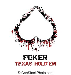 Poker background with card symbol - Poker texas holdem...