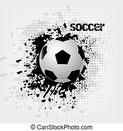 Soccer ball with grunge effect