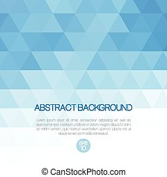 Abstract vector background with triangles. Template brochure...