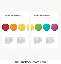 Abstract template flyer - Abstract template flyer with color...