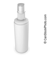 White tube isolated on a white background Deodorant...