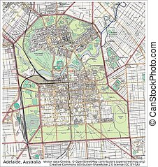 Adelaide Australia city map aerial view