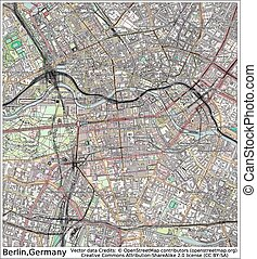 Berlin Germany city map aerial view