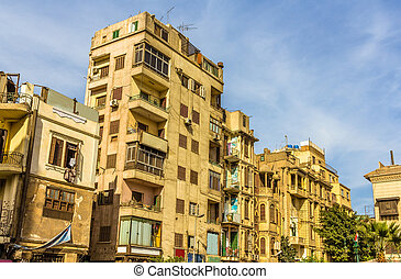 Buildings in the Islamic district of Cairo - Egypt
