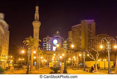 Omar Makram Mosque on Tahrir Square in Cairo - Egypt