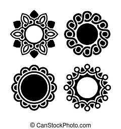 Jewelry Ornament Set on White Background Vector