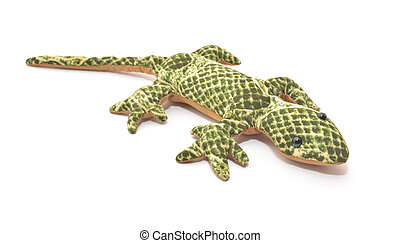 plush lizard isolated on white background