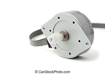 Electric stepper motor, isolated on white background