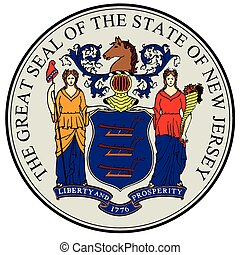 New Jersey State Seal - The great seal of the state of New...