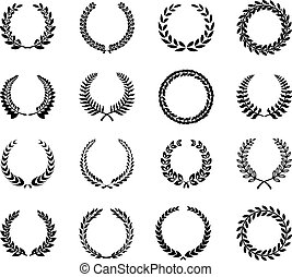 Laurel Wreaths Vector - Laurel Wreaths, flower Vector...