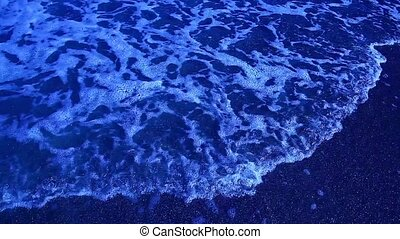Blue sea waves in the night, Black Sea