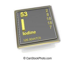Iodine., químico, element.,