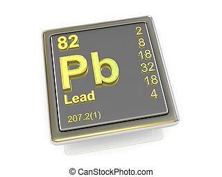 Lead., químico, element.,