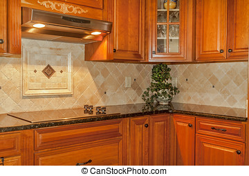 Traditional Kitchen - Traditional kitchen with stone...