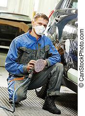 automobile car body paint check