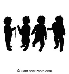 baby vector silhouette