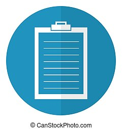 Clipboard icon. Flat style. Vector illustration.