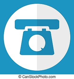 Old telephone  icon.