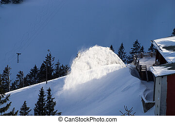 Snow Removal - Removal of snow from a pathway.