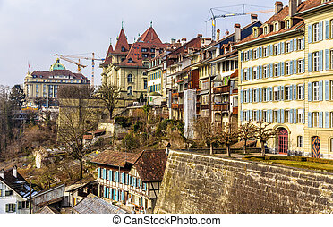 Buildings in the old town of Bern - Switzerland