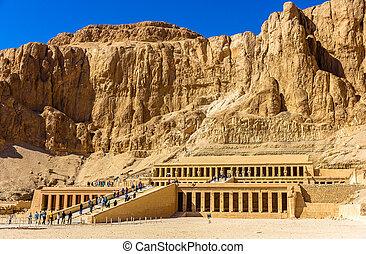 deir, necrotério, Egito,  Hatshepsut,  -,  el-bahari, Templo