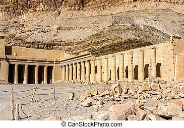 necrotério, Templo, de, Hatshepsut, em, Deir,...