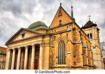 Saint Pierre Cathedral of Geneve in Switzerland