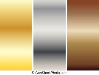 Aluminum, bronze and brass stitched textures vector eps 10