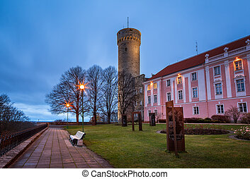 Long Herman Tower and the Parliament Building in the...