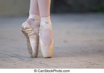 Ballet Shoes - Ballet shoes on two lovely ballerinas before...
