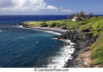 Maui Island Ocean View - A view of the Pacific Ocean, Maui...