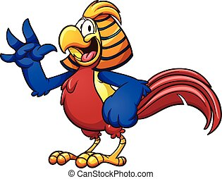 Golde Pheasant - Cartoon golden pheasant. Vector clip art...