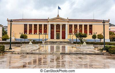 universidad,  -, atenas,  kapodistrian, grecia, nacional