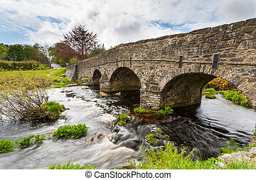 Postbridge Dartmoor National Park Devon - Bridge over the...
