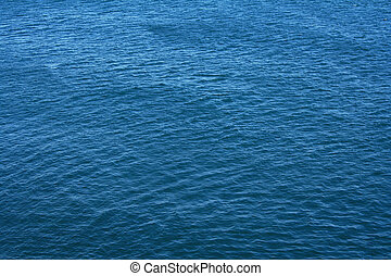 Azure sea water surface with ripple as background - Azure...