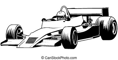 Racing Car - Formula One - Driver And Racing Car...