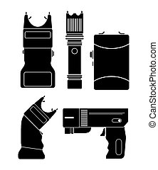 stun gun - silhouette - suitable for illustrations