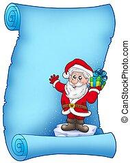 Blue parchment with Santa Claus 5