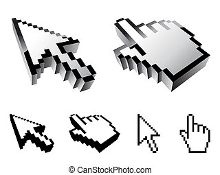 Cursor designs. - Set of six cursor designs.