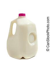 galão, jarro, leite