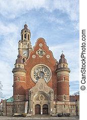 Sankt Johannes Kyrka Front Facade - Sankt Johannes Kyrka in...